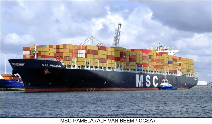 MSC PAMELA container ship