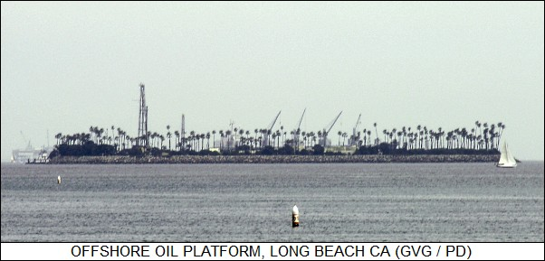 offshore oil platform in Long Beach CA