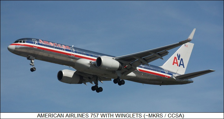 American Airlines 757 with winglets