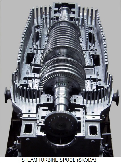 steam turbine spool