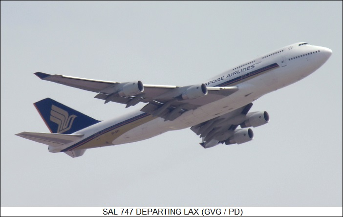 SAL 747 departing LAX