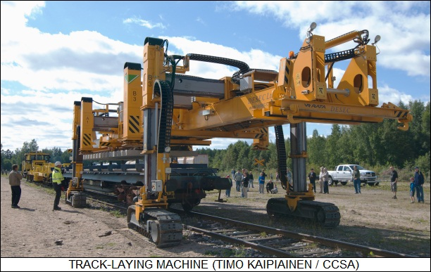 track-laying machine