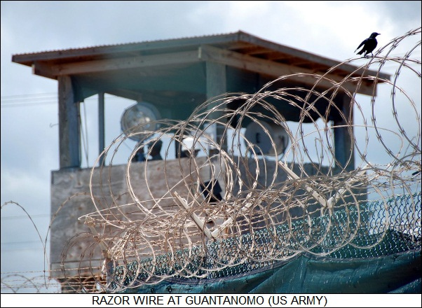 razor wire at Guantanamo