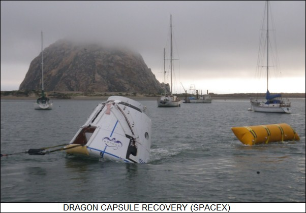 Dragon capsule recovery