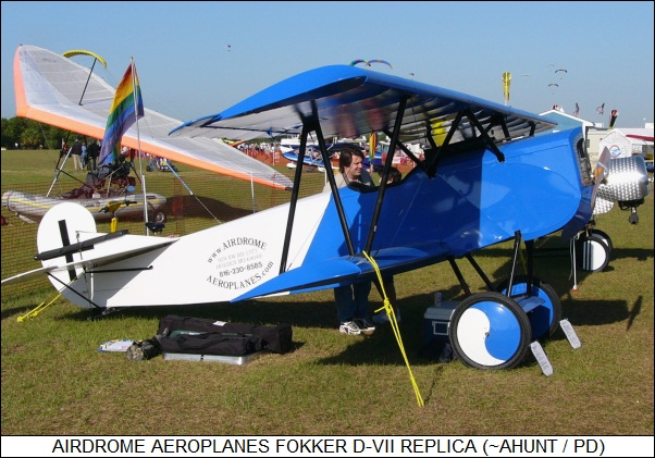 Airdrome Aeroplanes Fokker D-VII replica