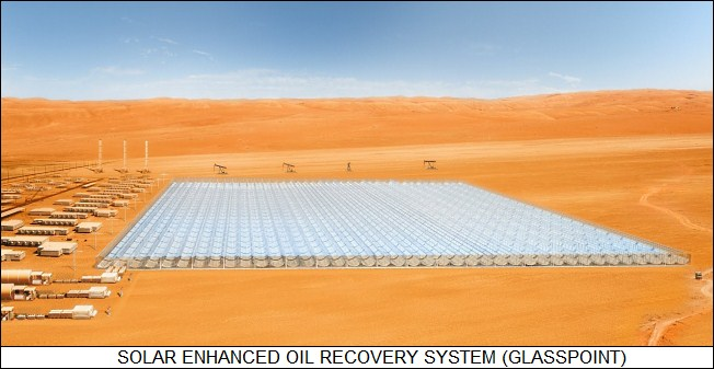 Glasspoint solar enhanced oil recovery facility