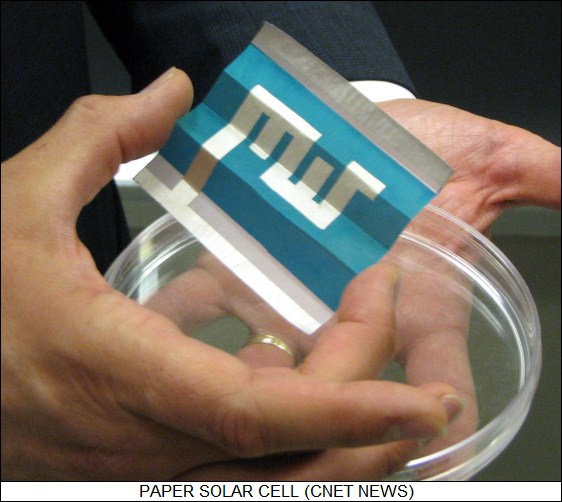 paper solar cell