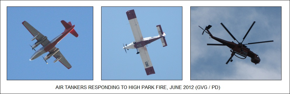 air tankers responding to High Park fire