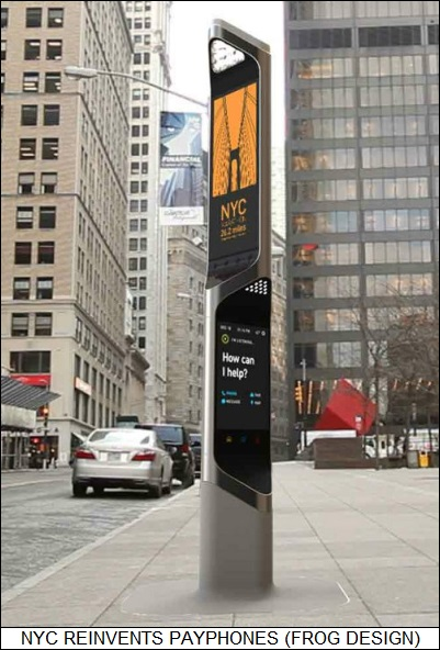 NYC reinvents the payphone