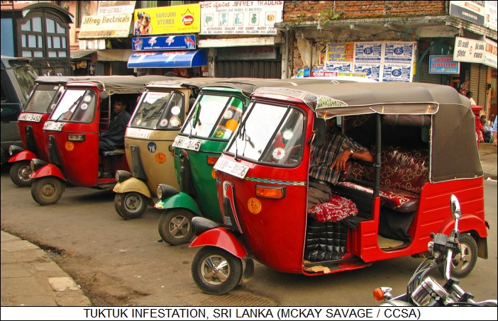 tuktuk infestation, Sri Lanka