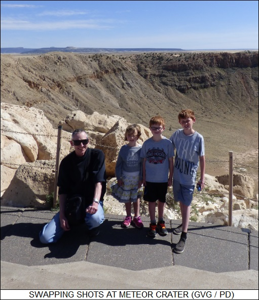 trading shots at Meteor Crater