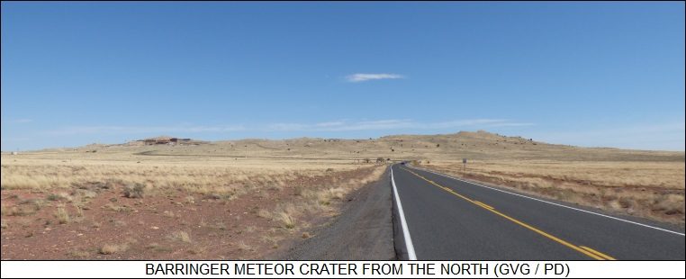 Barringer Meteor Crater from the north