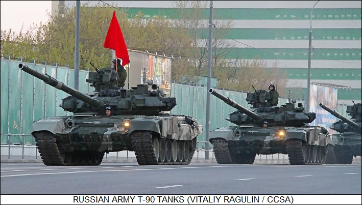 Russian Army T-90 tanks
