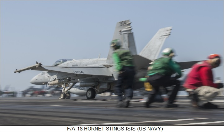 F/A-18 Hornet stings ISIS