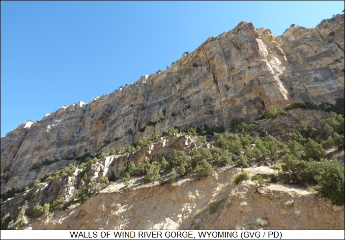 Wind River Gorge walls
