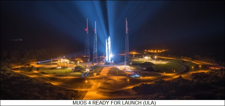 MUOS 4 ready for launch
