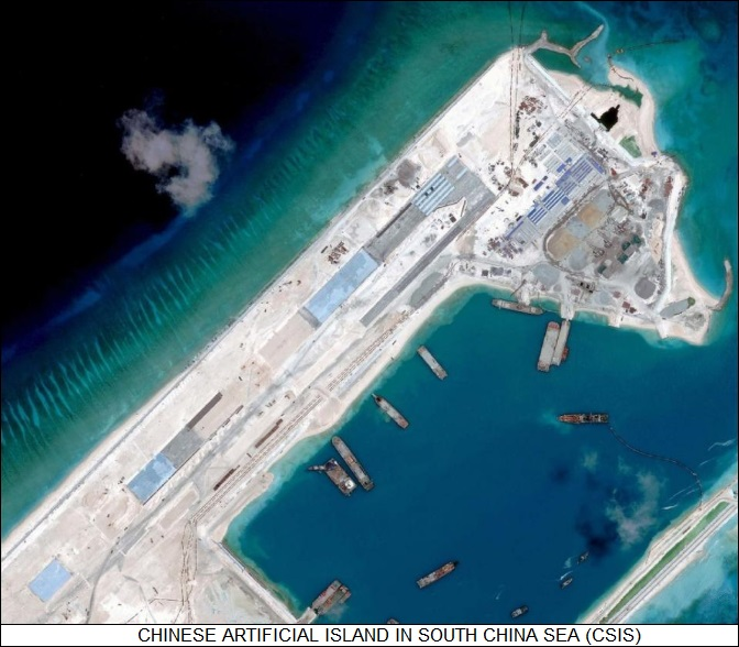Chinese artificial island South China Sea