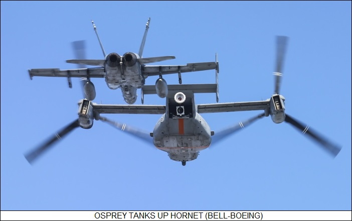 Osprey tanks up Hornet
