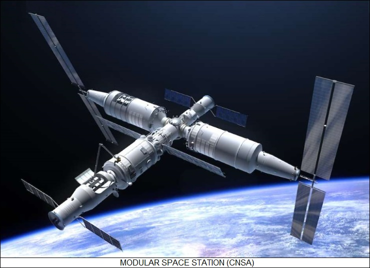 Chinese modular space station